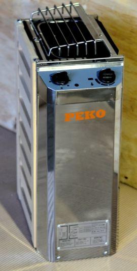 Электрическая печь для сауны PEKO EHGF-30/EHGF-36 нержавейка+сосна