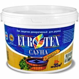Лак акриловый EUROTEX сауна 2.5кг.