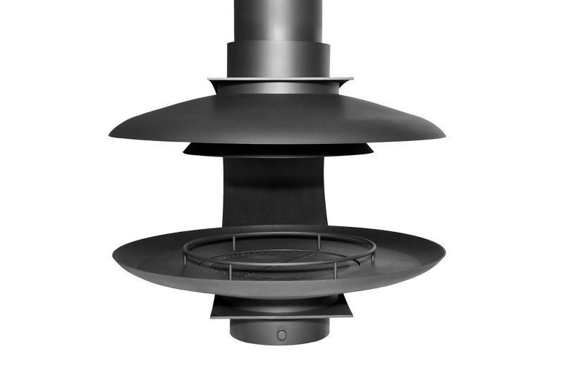 Современный подвесной камин на дровах для дома. Модель LOFT - 08.