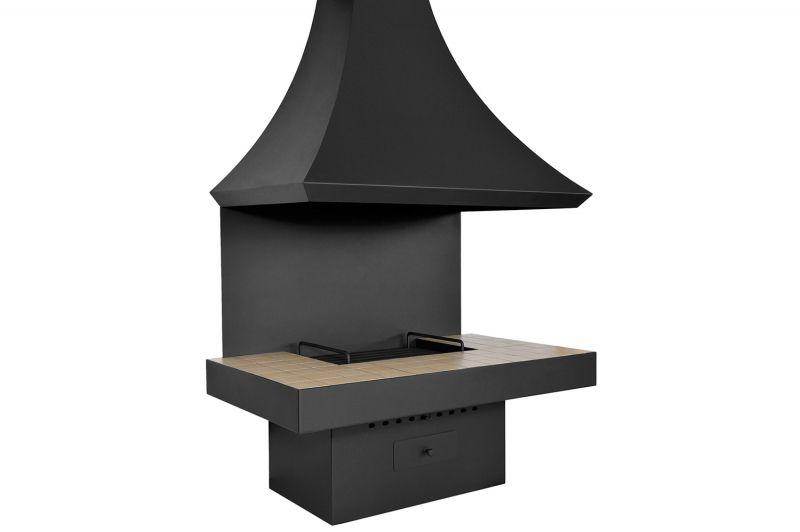 Камин дровяной для дома и дачи пристенный . Модель LOFT - 10.