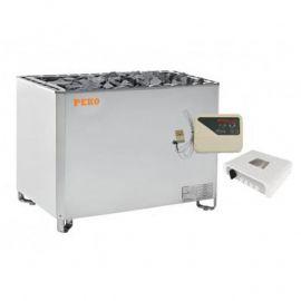 Электрическая печь для сауны PEKO EHGF-180/EHGF-210/EHGF-240 Steel (выносной п/у с релейным блоком в комплекте)